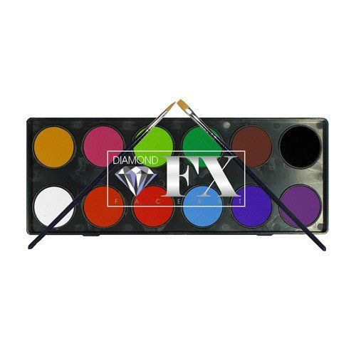 Diamond FX Essential Face Paint Palette (12 x 10g)