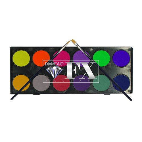 Diamond FX Neon & Metallic Face Paint Palette
