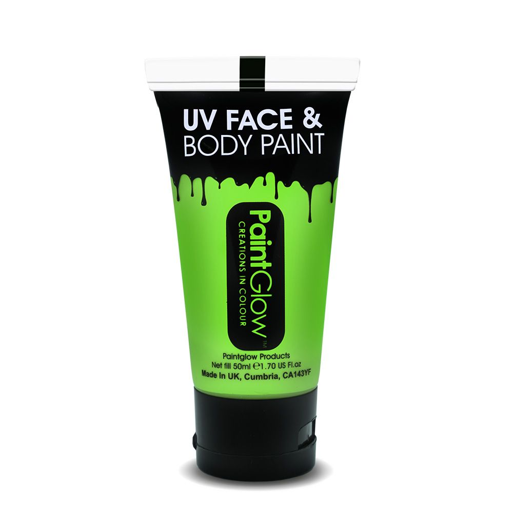 Intense Green - Neon UV Face & Body Paint Large