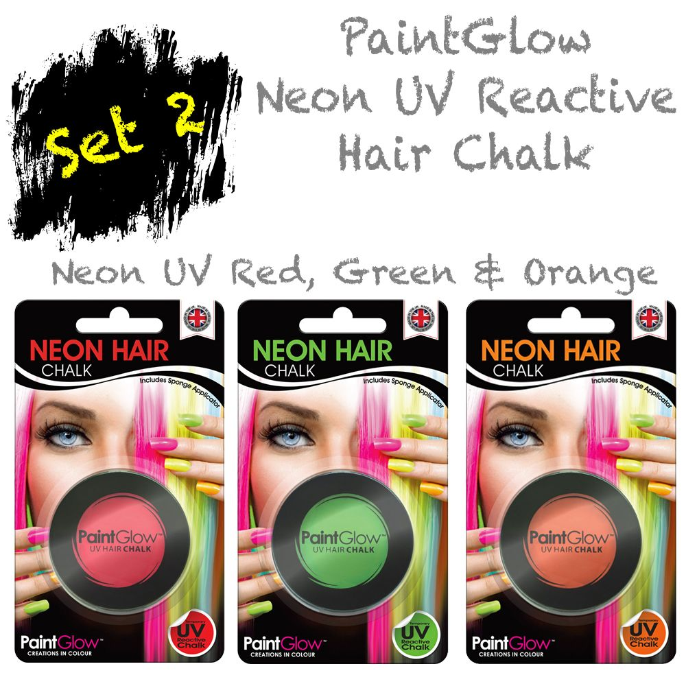 Neon UV Hair Chalk - SET 2