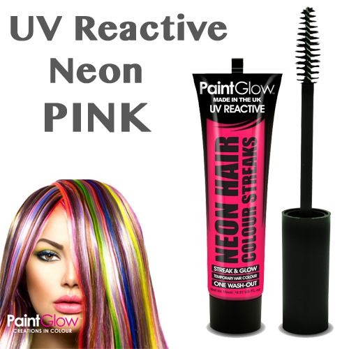 UV Neon Hair Streaks - PINK